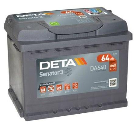 Аккумуляторная батарея 64Ah DETA SENATOR3 12 V