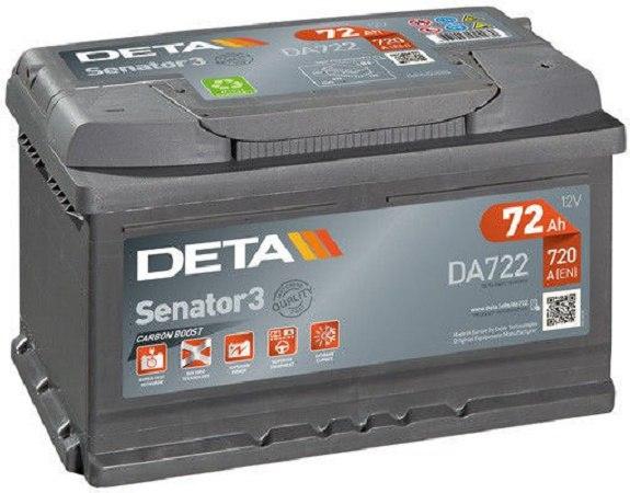 Аккумуляторная батарея 72Ah DETA SENATOR3 12 V